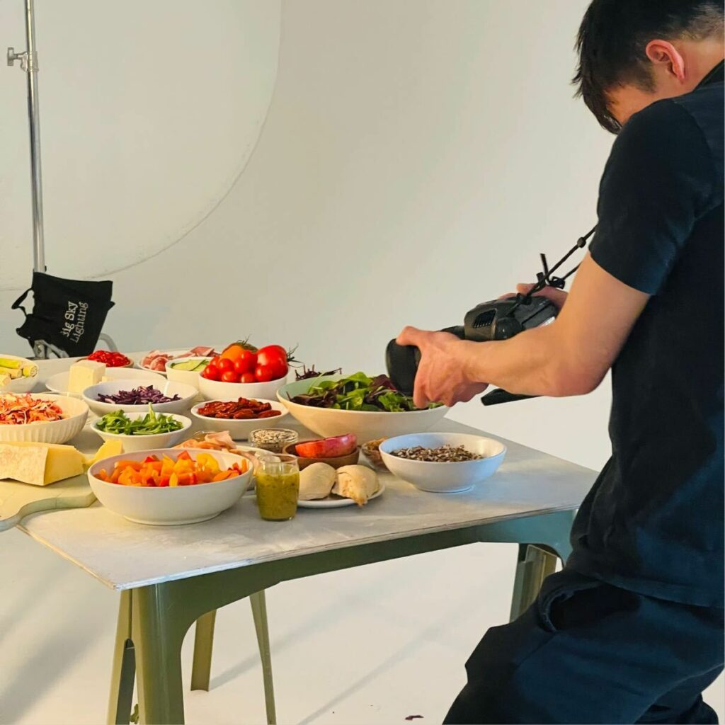 Photographing Chop'd salads